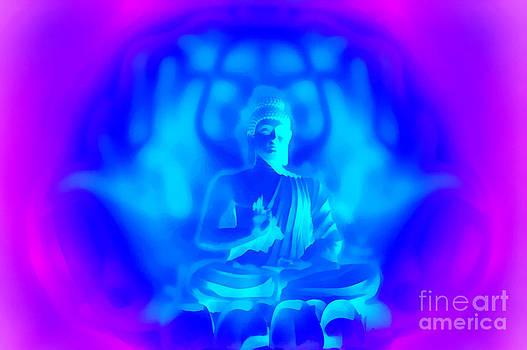 Lotus Buddha by Rajendra Mongia