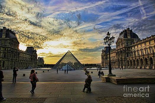 Chuck Kuhn - Louvre Sunset IV