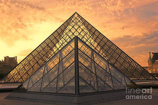 Chuck Kuhn - Louvre Sunset VI