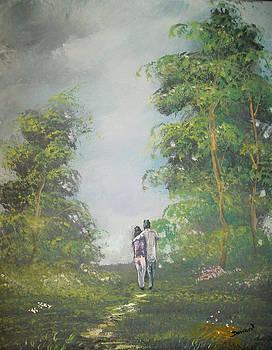 Love Walk in the woods by Raymond Doward