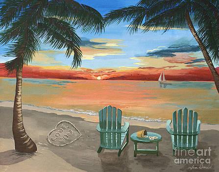 Love You Beach by Jennifer  Donald