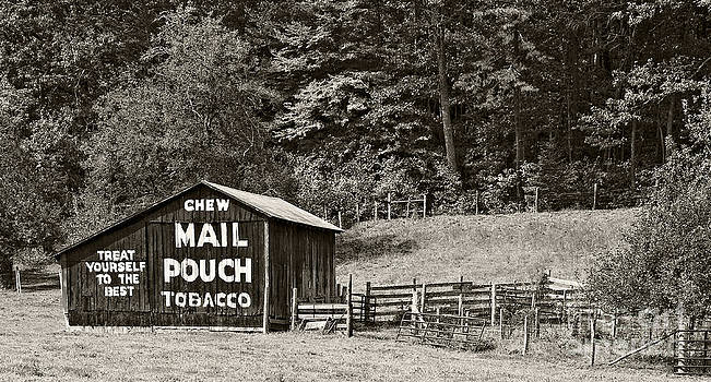 Kathleen K Parker - Mail Pouch Tobacco Barn in Black and White