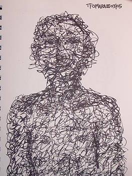 Man Made Of Scribbles by Thomas OMara