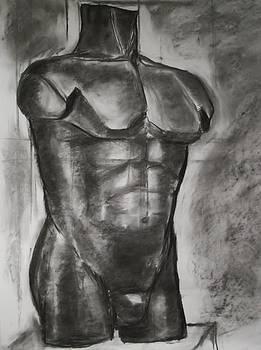 Man statue by Annamaria Shkurti