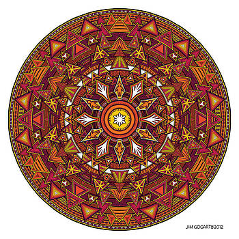 Mandala Hand Drawing 44 colourized by Jim Gogarty
