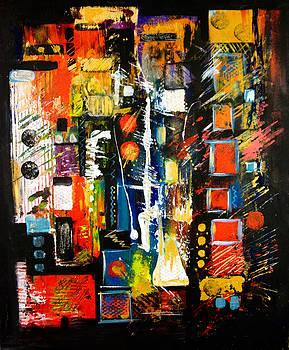 Manhattan Night Life by Barbara Barry-Nishanian