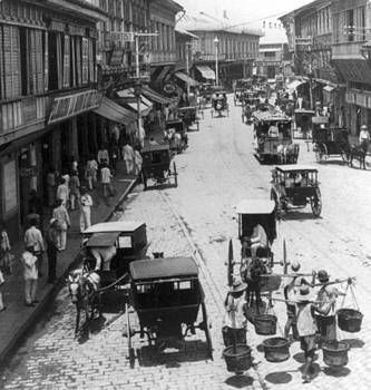 Manilla - Philippine Islands - Escolta Street Scene - c 1901 by International  Images