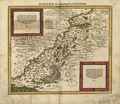 Photo Researchers - Map Of Palestine, 1588