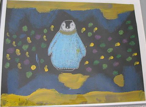Mardi Gras Penguin by Diana  Lesher