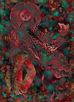Mariachi Dancers Abstract by Dede Shamel Davalos