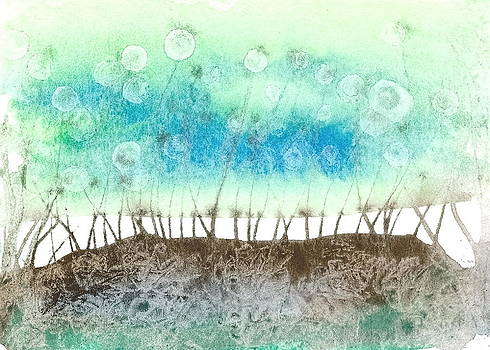 Marsh in blue and green by Sheba Goldstein