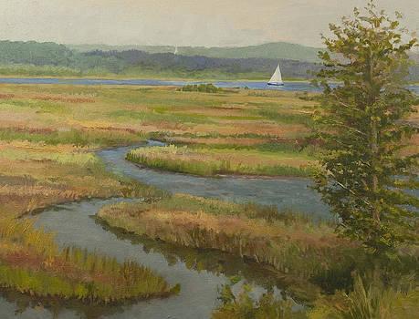 Marsh View of Lower CT River by Karen Lipeika
