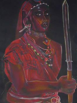 Masai Warrior  by Kenneth Otelu