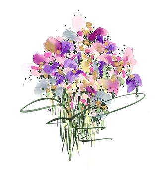 Mauvey Bouquet by Darlene Flood