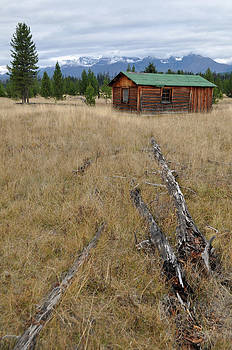 McCarthy Family Cabin Glacier National Park by Bruce Gourley