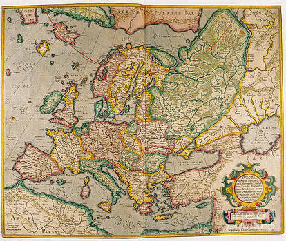 Photo Researchers - Mercators Map Of Europe