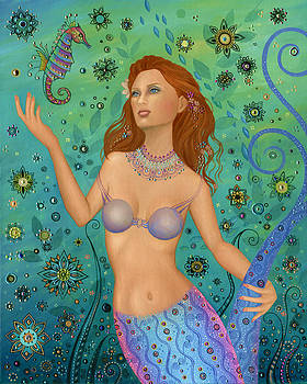 Mermaid and Seahorse by B K Lusk