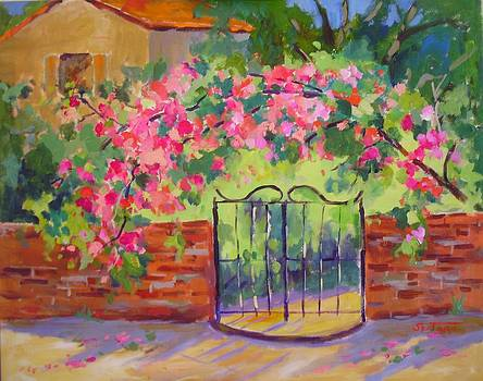 Mexico Flowered Gate by Peter Spataro