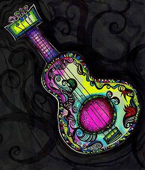 Mi GuitaRa on BlacK Pattern #2 by Teresa Grace Mock