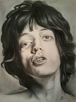Mick Jagger by Morgan Greganti
