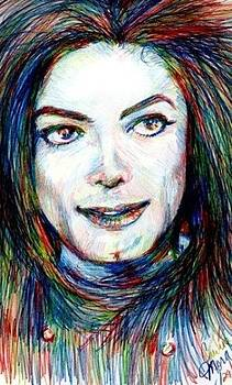 MJ in Primary Colors by Carliss Mora