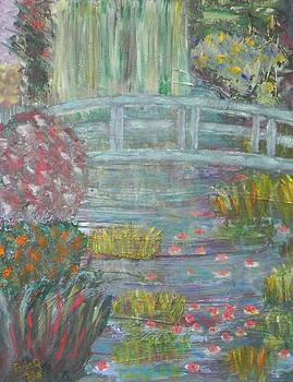 Monet's Garden Bridge by Ernie Goldberg