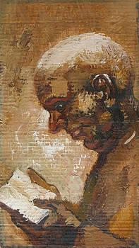 Monk Reading. 2005 by Yuri Yudaev