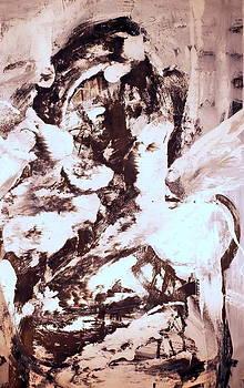 Monoprint Portrait 4 by JC Armbruster
