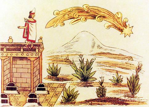 Science Source - Montezuma Ii Watching Comet 1519