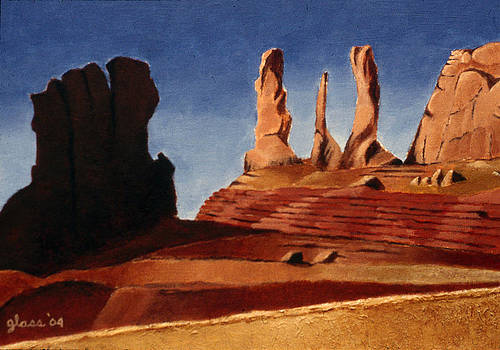 Monuments Sun and Shadow by Lester Glass