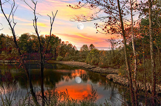 Randall Branham - Moon and Pond