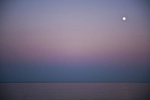 Moon at Sunset by Jennifer Brindley