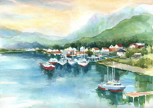 Morning Harbor by Kerry Kupferschmidt