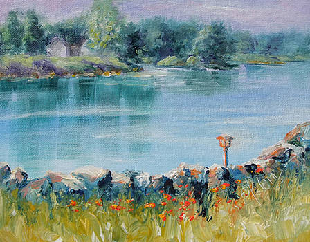 Donna Pierce-Clark - Morning Light on Lake Waynoka