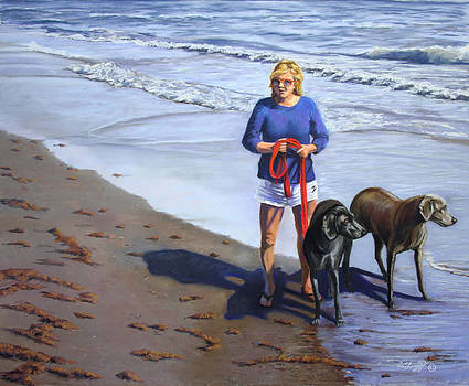 Morning on the Beach by Deb LaFogg-Docherty