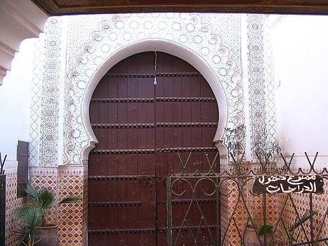 Yvonne Ayoub - Moroccan Marrakesh Mosque Door 01