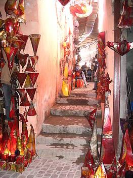 Yvonne Ayoub - Morocco Marrakesh Market lamps