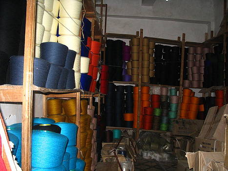 Yvonne Ayoub - Morocco Marrakesh Market silks