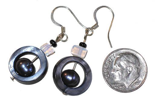 Mother of Pearl Earrings by Elizabeth Carrozza
