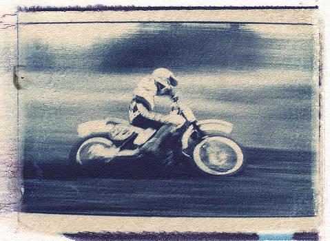 Polaroid Transfer Motocross racer by Greg Kopriva
