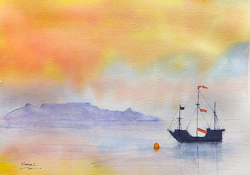 Mouille Point Mooring Cape Town by Harold Kimmel