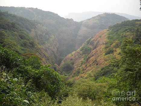 Mountain And Mountain by Bgi Gadgil