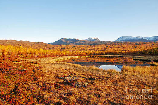 Mountain in autumn by Conny Sjostrom