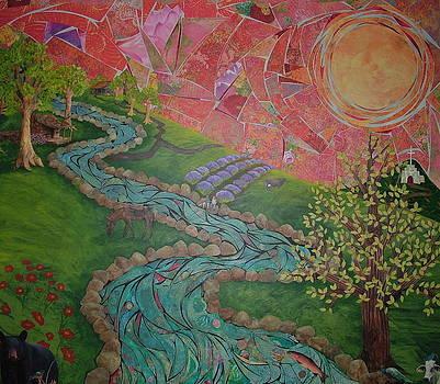 MounTain LandScaPe at SunseT by Teresa Grace Mock