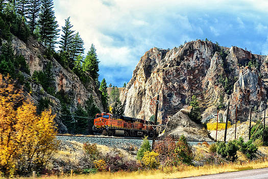 Mountain Train by Kelly Reber