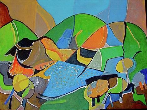 Mountain Village by Joan Landry