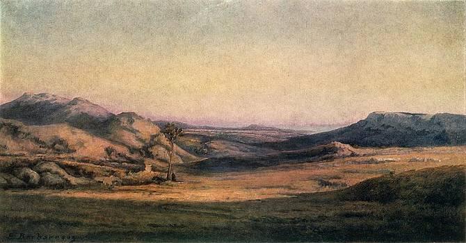 'mountainous Countryside' Painting By Edmond Barbazzona by Photos.com