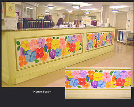 Mural Nurse Station by Donna Laplaca