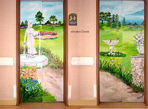 Mural on Elevator Doors by Donna La Placa
