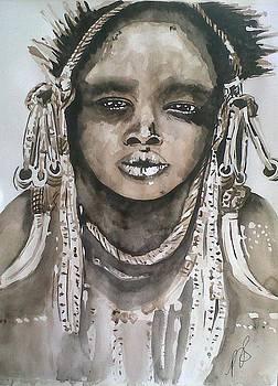 Mursi Tribe I. by Paula Steffensen